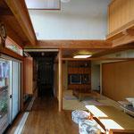 波田の家(松本市)-居間・茶の間
