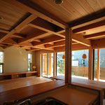 高田の家(長野市)-台所~居間・食堂