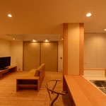 三郷の家Ⅴ(安曇野市)-居間・食堂・台所