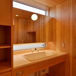 里山辺の家(松本市)-洗面脱衣室