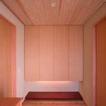 中条の家Ⅰ(松本市)-玄関ホール