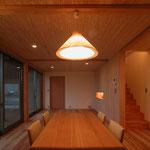 和田の家(松本市)-食堂~居間
