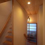 白馬の家(白馬村)-階段室~サンルーム