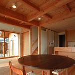 梓川の家Ⅰ(松本市)-居間・食堂