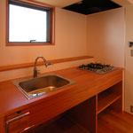 光の小住宅(安曇野市)-キッチン