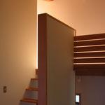 光の小住宅(安曇野市)-階段