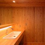 梓川の家Ⅰ(松本市)-洗面脱衣室