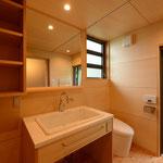 明野の家(山梨県北杜市)―洗面脱衣トイレ