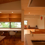 三郷の家Ⅳ(安曇野市)-台所食堂~居間