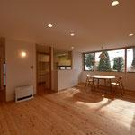 梓川の家Ⅱ(松本市)・リノベーション|居間・食堂~台所