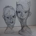 Jeune Duo (peut être vendu séparément), Grillage, h.90 cms