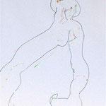 JE CHANCELLE, crayon  pastel gras 42x30 cm