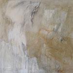 """""""Mouvement"""", Technique mixte aux pigments sur toile, 100x100"""
