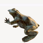 Grenouille, bronze, ht. 15cms