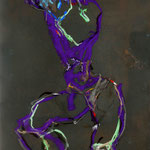 DECOUVRIR DES TERRITOIRES INCONNUS, Papier gesso fusain pastel mixte graphite 70x50 cm