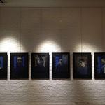 Série de 6 portraits d'homme, gouache sur papier, 38 x67 cm