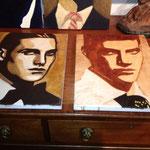 Série, portrait de 7 hommes, portrait d'homme 6 et 7, huile sur toile, 30 x40 cm