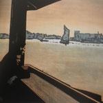 River,sérigraphie, 50 x70 ed.de 70