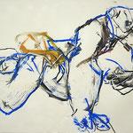 BRACONNIER DE L'EPHEMERE, papier fusain pastel pierre noire 42x58 cm