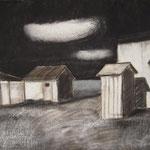 Nuit, fusain et pastel, 75x95
