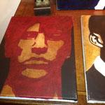 Série, portrait de 7 hommes, portrait d'homme 1, huile sur toile, 30 x40 cm