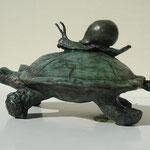 Tortue, bronze, ht.20 cms