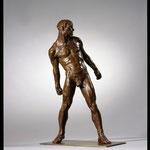 Homme à la pierre, 2003, 51 x 18 x 30 cm