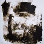Egérie, Lou Andreas Salomé Sérigraphie à 3 teintes sur papier Bfk Rives 300 g Tiré à 75 ex. pour le collectif « La gravure Original » X exemplaires marqués e/a pour l'artiste, décembre 2010, 40x50 (encadré)