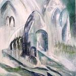 Ruissellement, 116x89, technique mixte sur toile