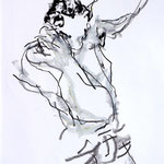 DANS UN MURMURE, papier pastel  pierre noire graphite 59x42cm