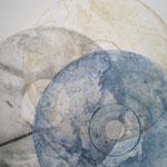 Transparences (DETAIL), gravure sur disque laser, échine collé, 65x50