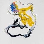 L EAU QUI DORT, papier pastel  gras crayon 30x21cm