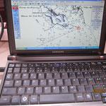 Datoriserat gammalt sjokort over Boa Vista