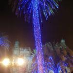 Belysta palmer i Las Palmas