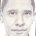 Retrato del presidente de los EEUU Barack Obama