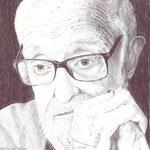 Retrato del escritor español José Luis Sampedro