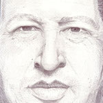 Retrato del presidente venezolano Hugo César Chávez