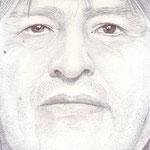 Retrato del presidente de Bolivia Evo Morales
