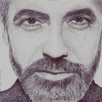 Retrato del actor americano George Cloney