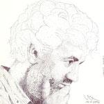 El escultor burgalés Carlos Armiño