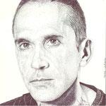 Retrato del pintor burgalés de arte contemporáneo Oscar Ulpiano