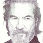Retrato del actor americano Jeff Bridges