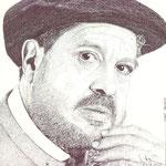 Retrato del artista burgalés Juan Vallejo