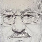 Retrato del líder palestino Mahmud Abbas