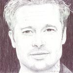 Retrato del actor americano Brad Pitt