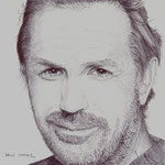 Retrato del actor americano Kevin Costner