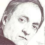 Retrato del pintor burgalés ,artista y diseñador gráfico Ricardo Blackman