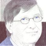 Retrato del presidente de Microsoft Bill Gates