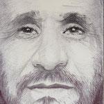 Retrato del presidente iraní Mahmud Ahmadineyad
