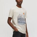 JAAMES BIG WAVE white sand T-Shirt aus Bio-Baumwolle – € 29,90
